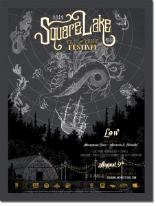2014 Square Lake Festival Poster by Erika Williams